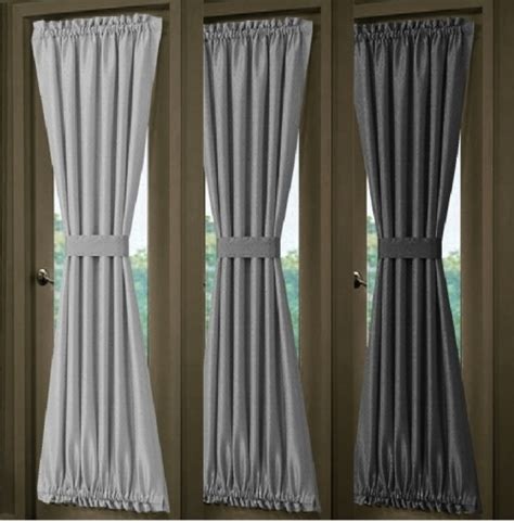 solid silver gray or charcoal gray door curtain