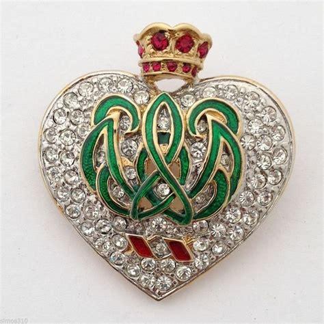 vtg carolee duchess  windsor heart crown brooch pin
