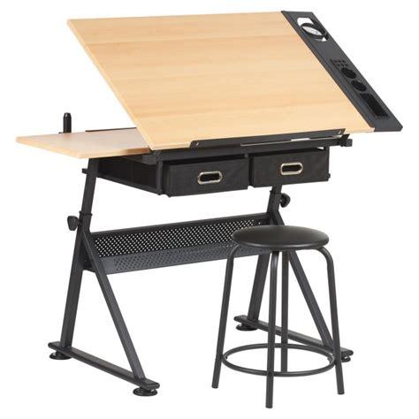 drawing board table  stool adjustable hartleys