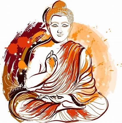 Buddha Lord Clipart Buddhism Gautama Painted Zen