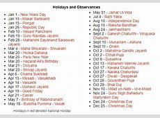 Free India School Holidays 2019 Calendar Templates Public