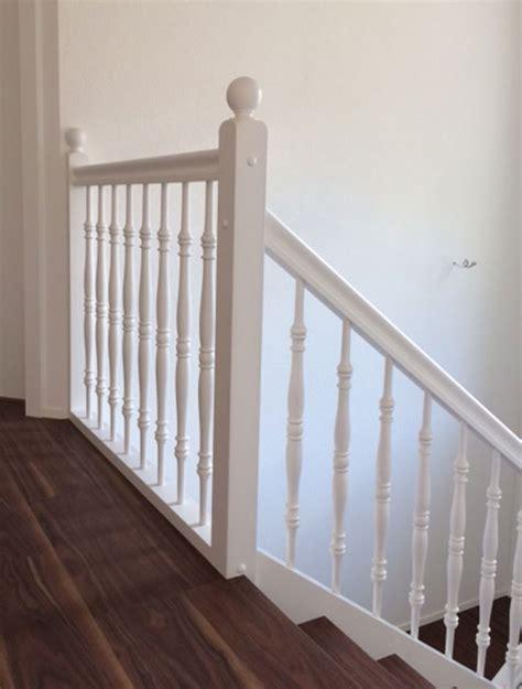Treppengeländer Weiß Holz by Referenzen