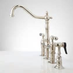 bridge faucet kitchen bellevue bridge kitchen faucet with brass sprayer lever handles kitchen