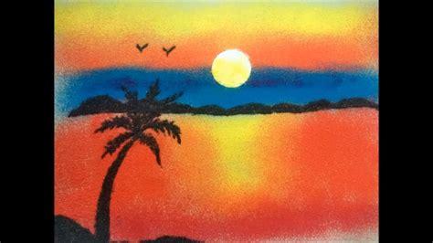 Nature Rangoli Design Saanvi Arts Beautiful Sunset