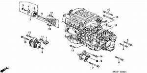Alternator Bracket  V6  For 1998 Honda Accord Coupe