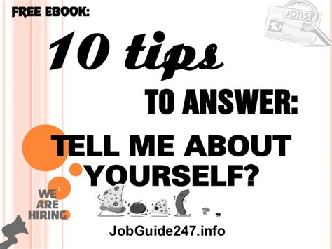10 tips to answer question tell me about yourself