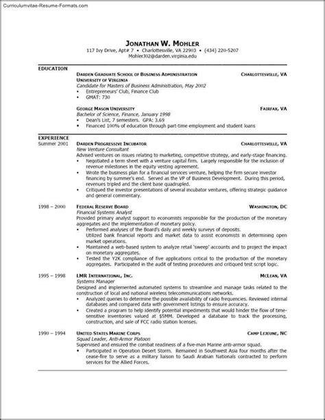 Microsoft Word Resume Template by Free Resume Templates Microsoft Word 2003 Free Sles