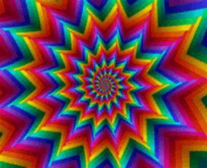 Rainbow Trippy Fractal Fractals Gifs Animated Abstract