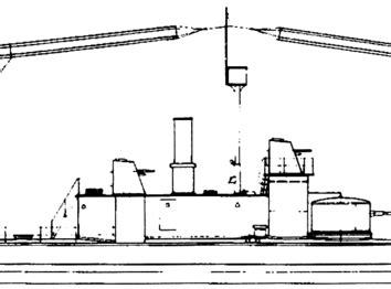 Корабль SMS Bayern [Battleship] (1915) - чертежи, габариты ...