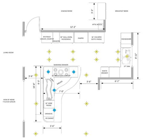 kitchen lighting design layout kitchen lighting layout island 5353