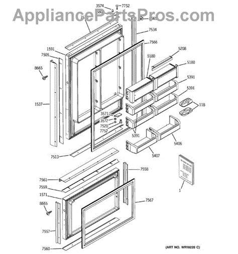 ge wrx bm fz drawer gasket appliancepartsproscom