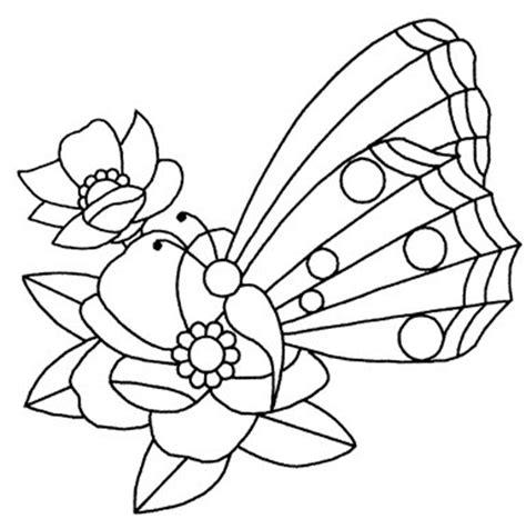 Baú da Web: Riscos de flor com borboletas para pintar