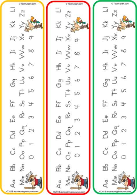 letter formation bookmark cards zaner bloser style