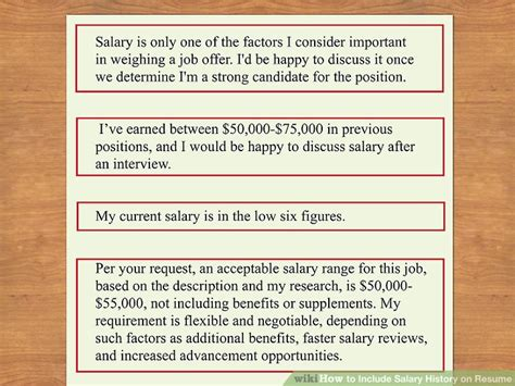 how to include salary history in a cover letter how to include salary history on resume 11 steps with pictures