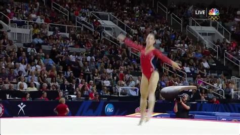 aly raisman floor exercise 2016 olympic trials day 1 youtube