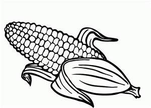 Fall indian corn coloring pages coloring pages for Corn stalk template
