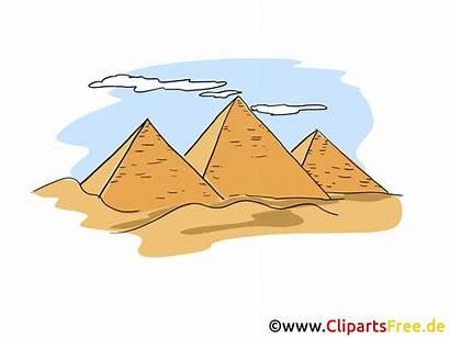 Clipart Pyramids Egypt Pyramiden Illustrations Cartoon Aegypten