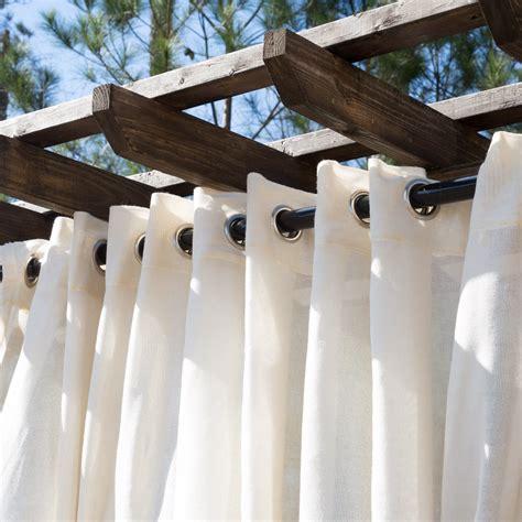 sheer beige wide outdoor curtains dfohome