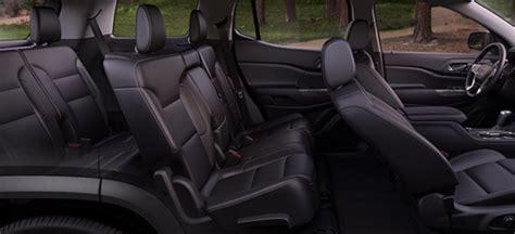 gmc acadia   passenger seating  black