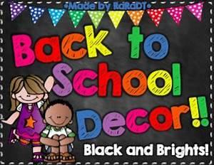 EDITABLE Classroom Decor Black and Brights Chalkboard