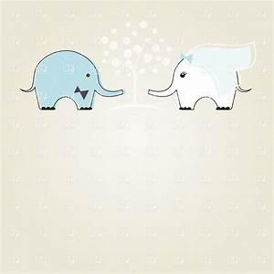 Bride and groom - cute wedding elephants Royalty Free ...