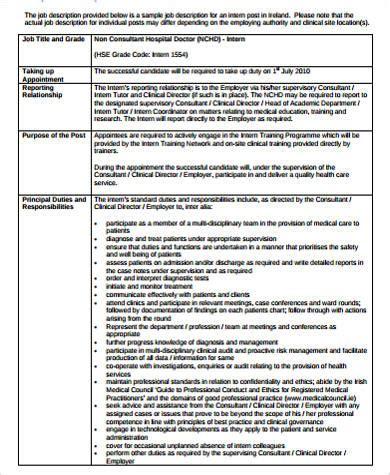 sample healthcare administration job description