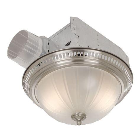 bathroom fan light bulb broan decorative satin nickel 70 cfm ceiling bath fan with