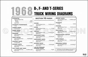 1968 Ford Pickup And Truck Wiring Diagram F100 F250 F350 F500 F600 F700