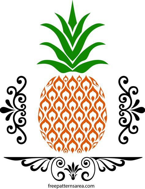 Free Pineapple Svg And Vector Images Freepatternsarea