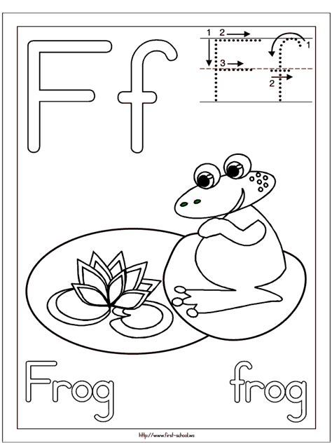 frog coloring page   week letter  activities