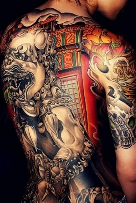incredible foo dog tattoos