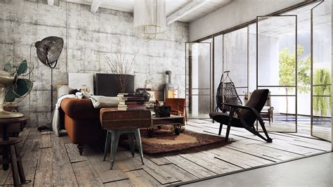 vintage industrial house  behance