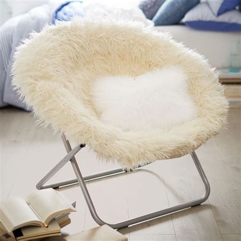 ivory furlicious faux fur hang a chair pbteen