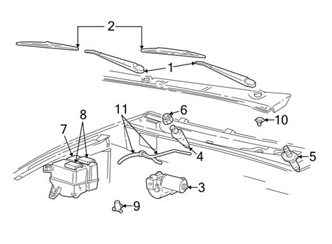Ford Wiper Linkage Diagram by 6l5z17566aa Ford Pivot Arm And Wiper Lifier