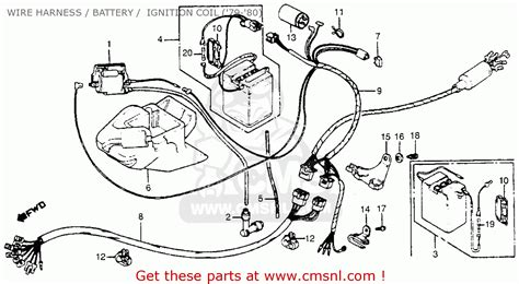 1979 Vw Wiring Harnes by Honda Na50 Expressii 1979 Z Usa Wire Harness Battery