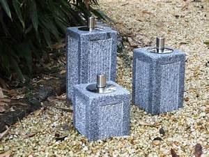 Der Naturstein Garten : llampe aus granit mit edelstahlbeh lter der naturstein garten ~ Markanthonyermac.com Haus und Dekorationen