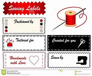 sewing labels stock vector illustration of homemade With dressmaking labels