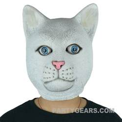 cat mask white cat mask pgm h16020 partygears mask