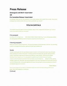 47 free press release format templates examples samples With templates for press releases