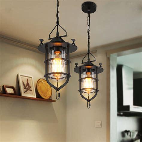 retro indoor lighting vintage pendant lights iron cage