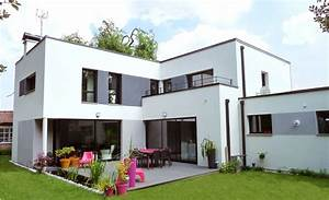 Best maison moderne gris blanc gallery amazing house for Couleur facade maison contemporaine 9 maison moderne grise
