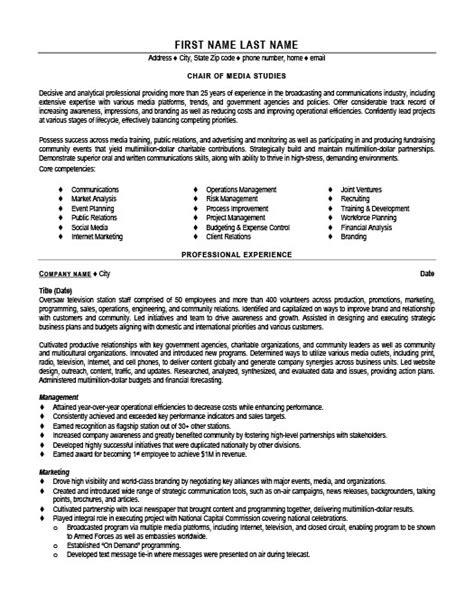 Media Arts Resume Template by Chair Of Media Studies Resume Template Premium Resume Sles Exle