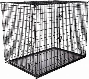 frisco xx large heavy duty double door dog crate at low With big dog cage