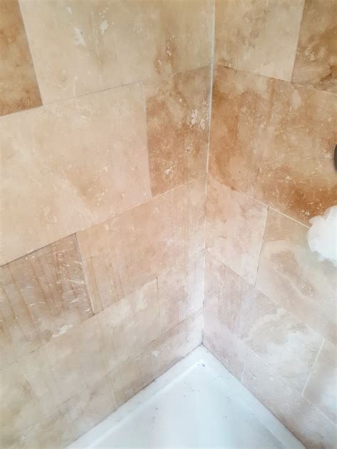Regrouting Tile Floor Bathroom by Cleaning A Travertine Tiled Shower Cubicle In Newton Heath