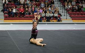 Two gymnasts make ncaa regional debuts on the vault the for Indian gymnastics floor music