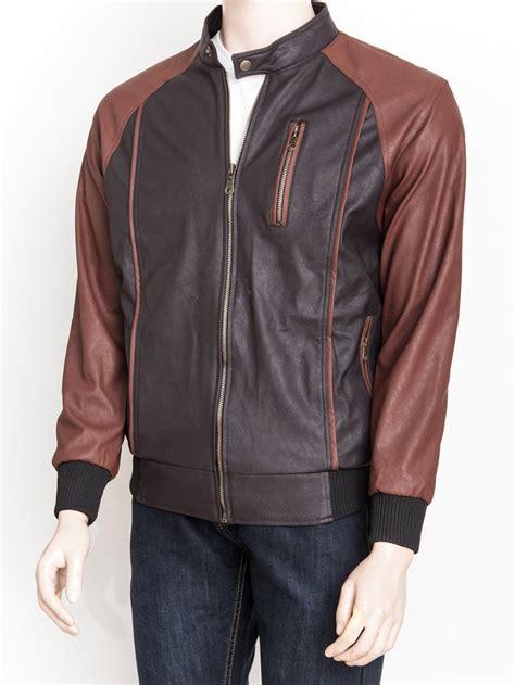 jual jaket kulit sintetis premium warna coklat hitam