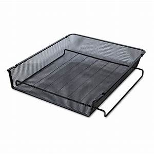 mesh stackable front load tray letter black zerbee With mesh stackable letter tray