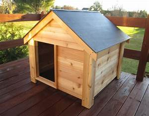 Wood dog house kit for Outdoor dog kennel kits