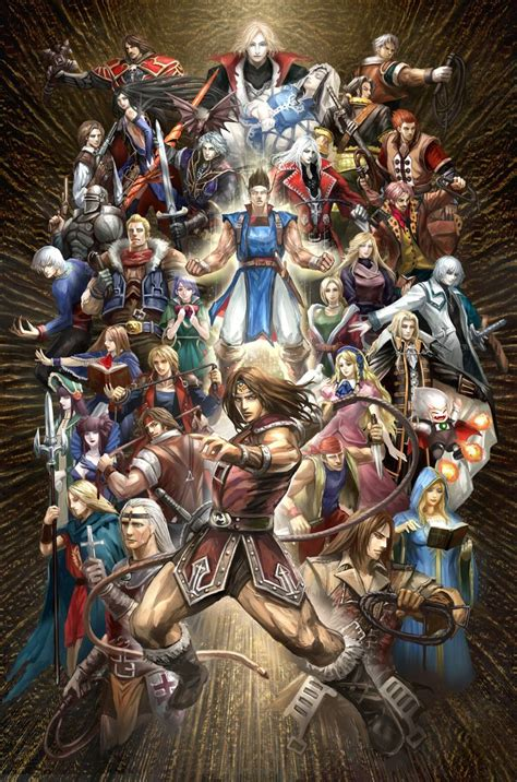 All The Awesome Castlevania Characters In One Piece Of Fan