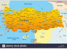 Vector map of Turkey country Stock Photo 43968341 Alamy